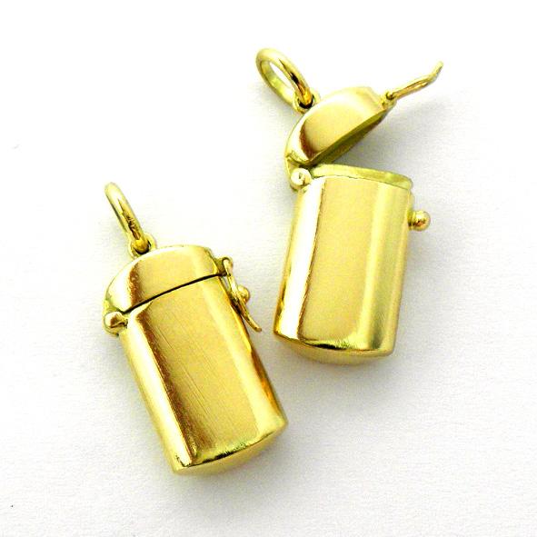 pastillero oro amarillo brillo con cierre ocho