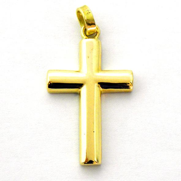 cruz lisa tubo ½ caña brillo oro amarillo