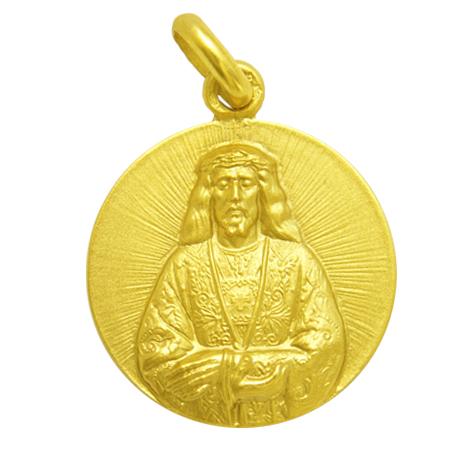 medalla cristo de medinaceli oro amarillo