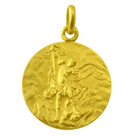 medalla san miguel arcangel oro amarillo