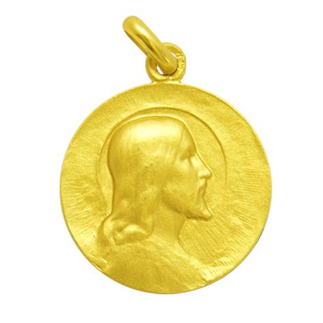 medalla cristo salvador oro amarillo