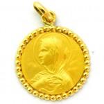 medalla ave renard orla bolitas oro amarillo