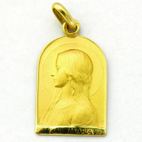 medalla ave velo capilla oro amarillo