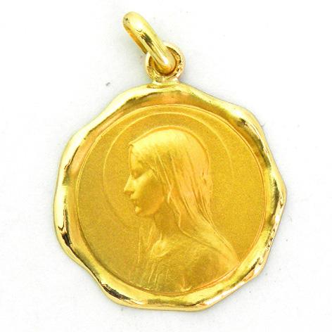 medalla ave velo bisel lacre brillo oro amarillo