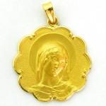 medalla ave gargallo bisel ondas oro amarillo