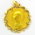 medalla ave velo bisel ondas y orla