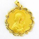 medalla ave manos bisel ondas y orla