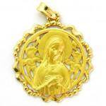 medalla ave postal calada orla lazos oro amarillo