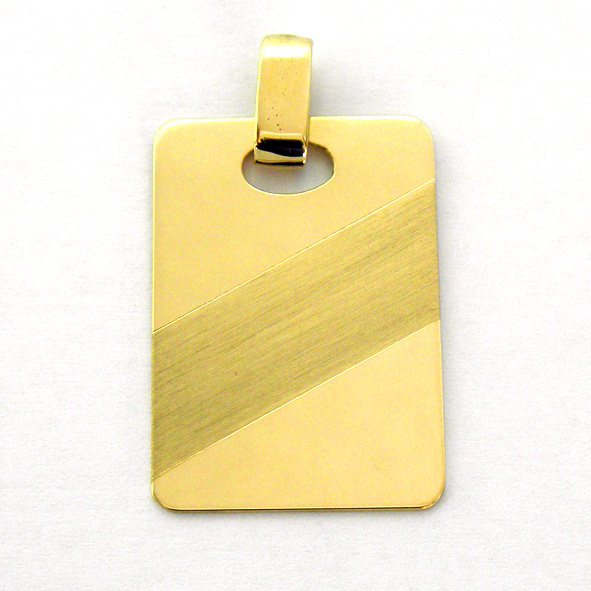 placa brillo con franja diagonal mate oro amarillo