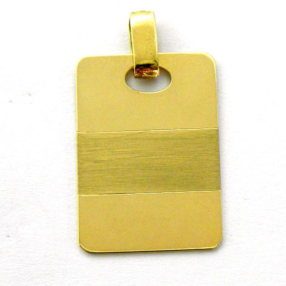 placa brillo con franja mate horizontal oro amarillo