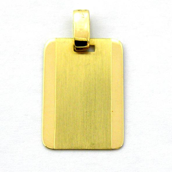 placa mate biseles laterales brillo oro amarillo