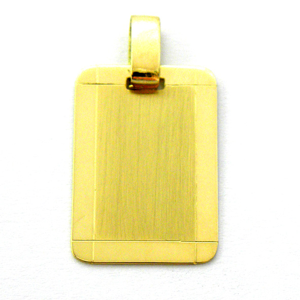 placa mate bisel brillo oro amarillo