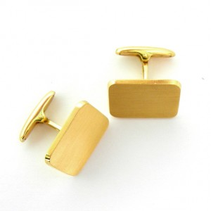 gemelos forma rectangular mate grandes oro amarillo