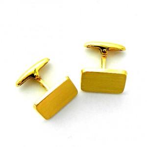 gemelos forma rectangular mate oro amarillo