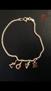 initials gold